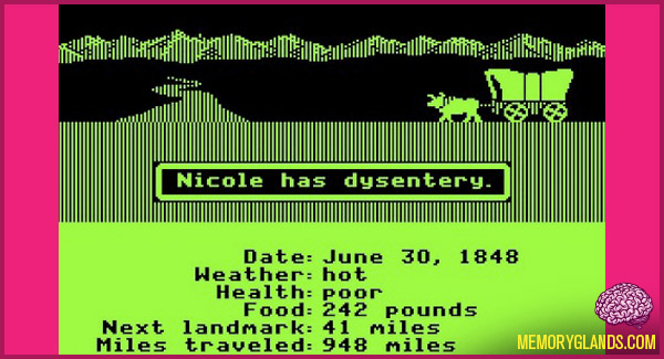 funny computer game oregon trail photo