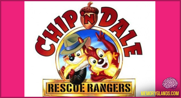 funny cartoon Chip 'n Dale Rescue Rangers tv show photo