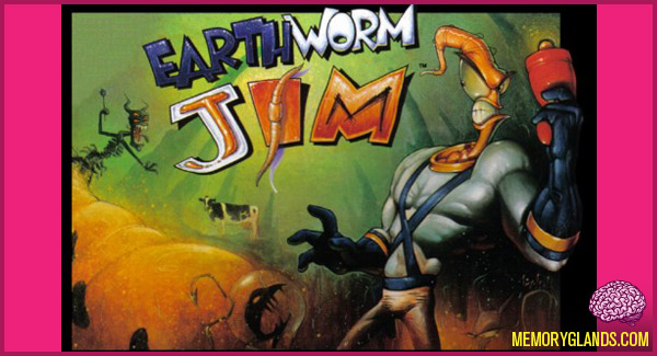 funny cartoon video game earthworm jim photo
