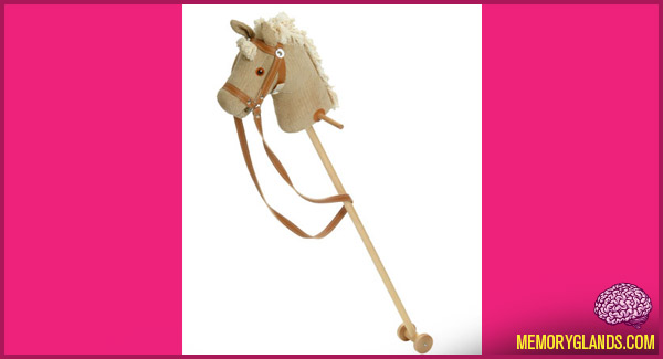 funny hobby horse toy photo