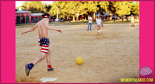funny recess game kickball photo