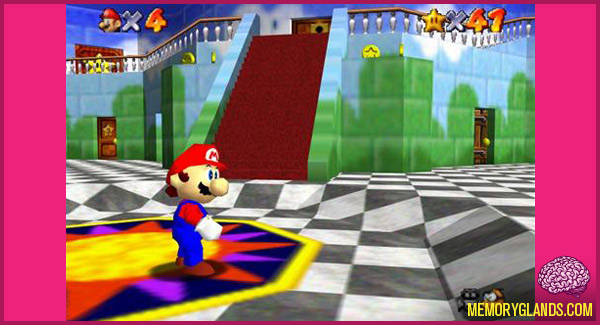 funny nintendo 64 video game mario 64 photo
