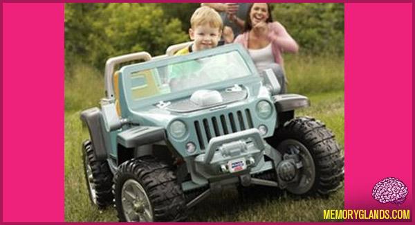 funny power wheels car photo