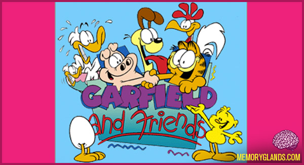funny cartoon garfield and friends tv show photo