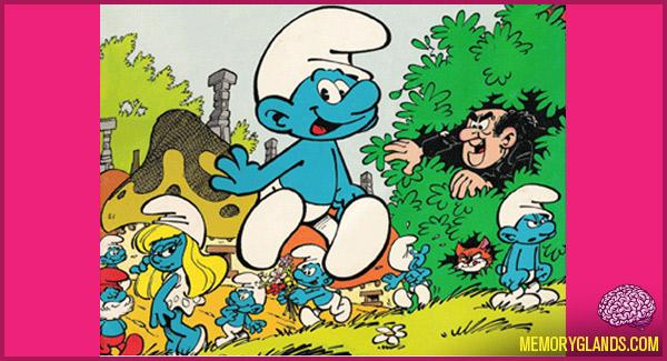 funny cartoon smurfs tv show photo