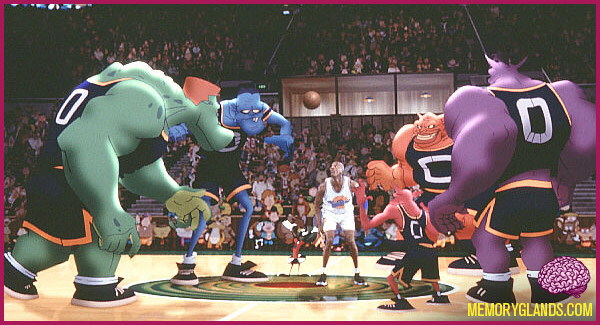funny cartoon space jam basketball movie photo