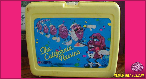 funny california raisins lunch box photo