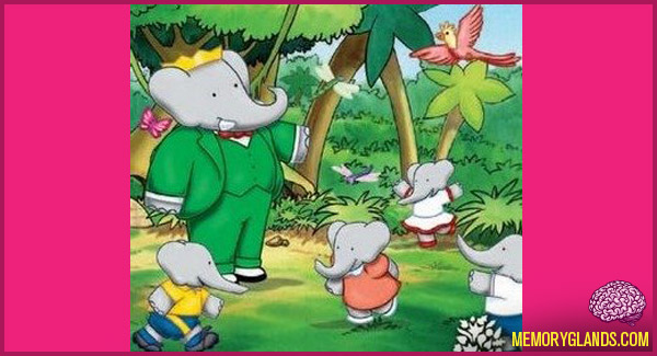 funny babar the elephant tv show photo