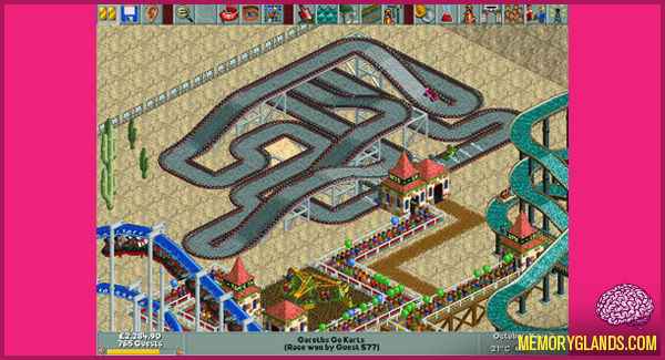funny rollercoaster tycoon computer game photo