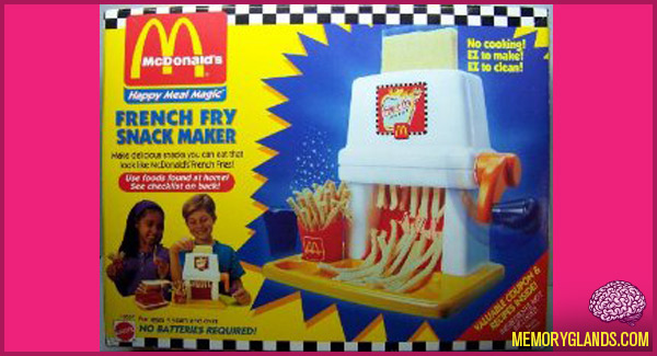 funny McDonald's Happy Meal Magic French Fry Snack Maker toy photo