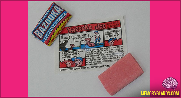 funny bazooka joe bubble gum photo