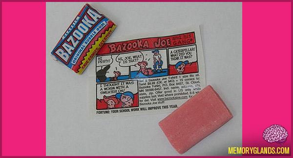 funny bazooka joe bubble gum photo