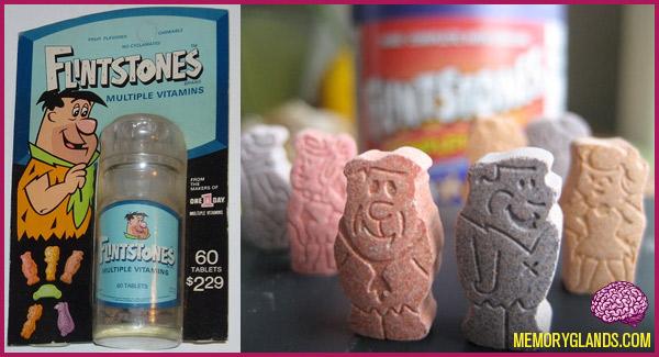 Flintstones Chewable Vitamins Memory Glands Funny Nostalgic Photos