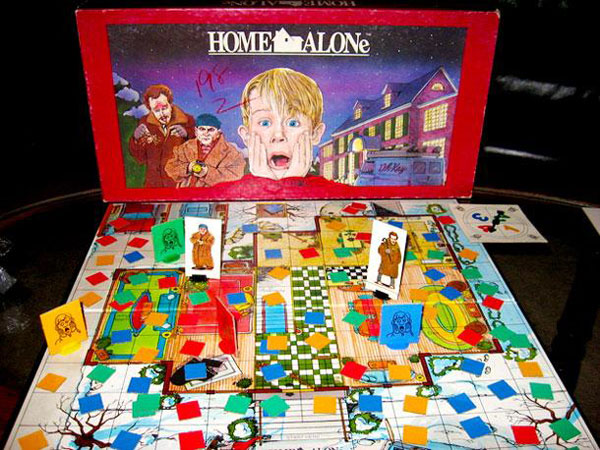 90s board game with phone