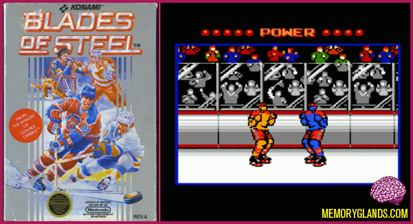 funny nintendo hockey video game
