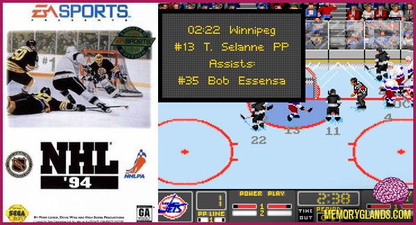 funny hockey nhl video game sega genesis