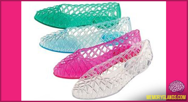 funny clothing jellies shoes photo