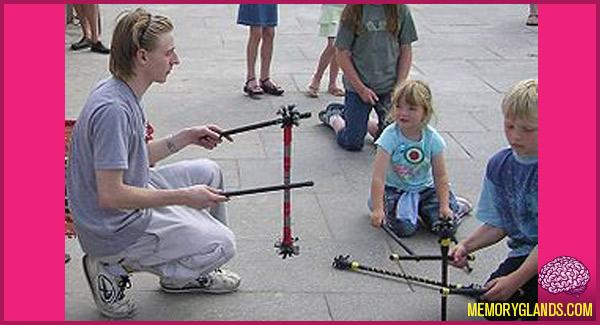 funny devil sticks toy photo
