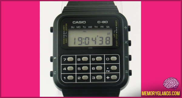 Calculator Watch : Memory Glands – Funny Nostalgic Photos