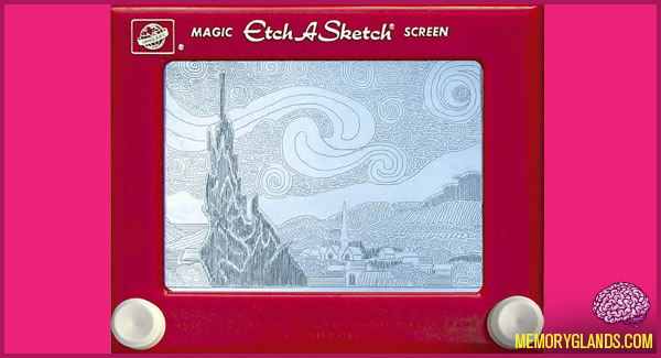 funny etch a sketch toy photo