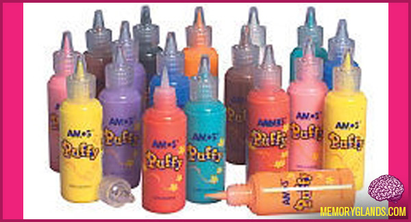 funny arts and crafts puff paint photo