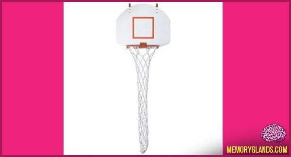 funny laundry basketball hoop photo