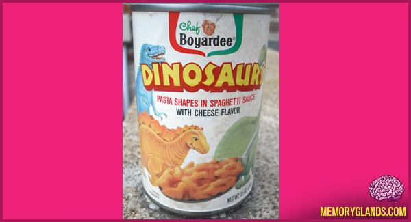 funny chef boyardee dinosaurs food photo